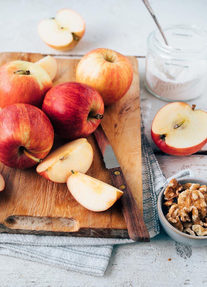 Slof met appel met amandelspijs