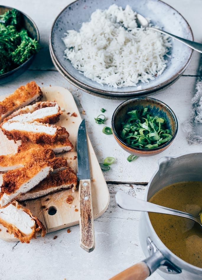 Kip katsu met currysaus