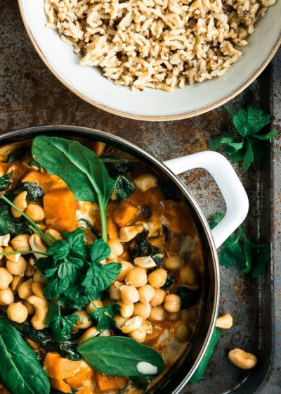Massaman curry met zoete aardappel