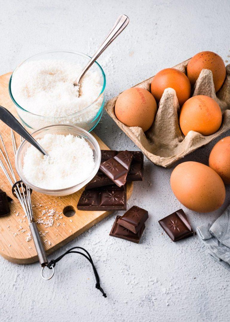 Kokoskoekjes met citroen en chocolade