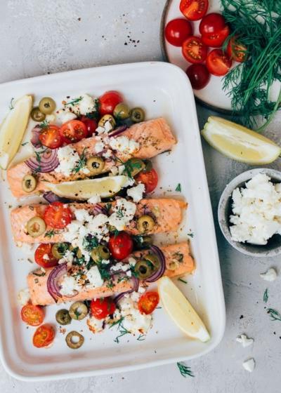 Griekse zalm uit de oven + Proef gratis mee