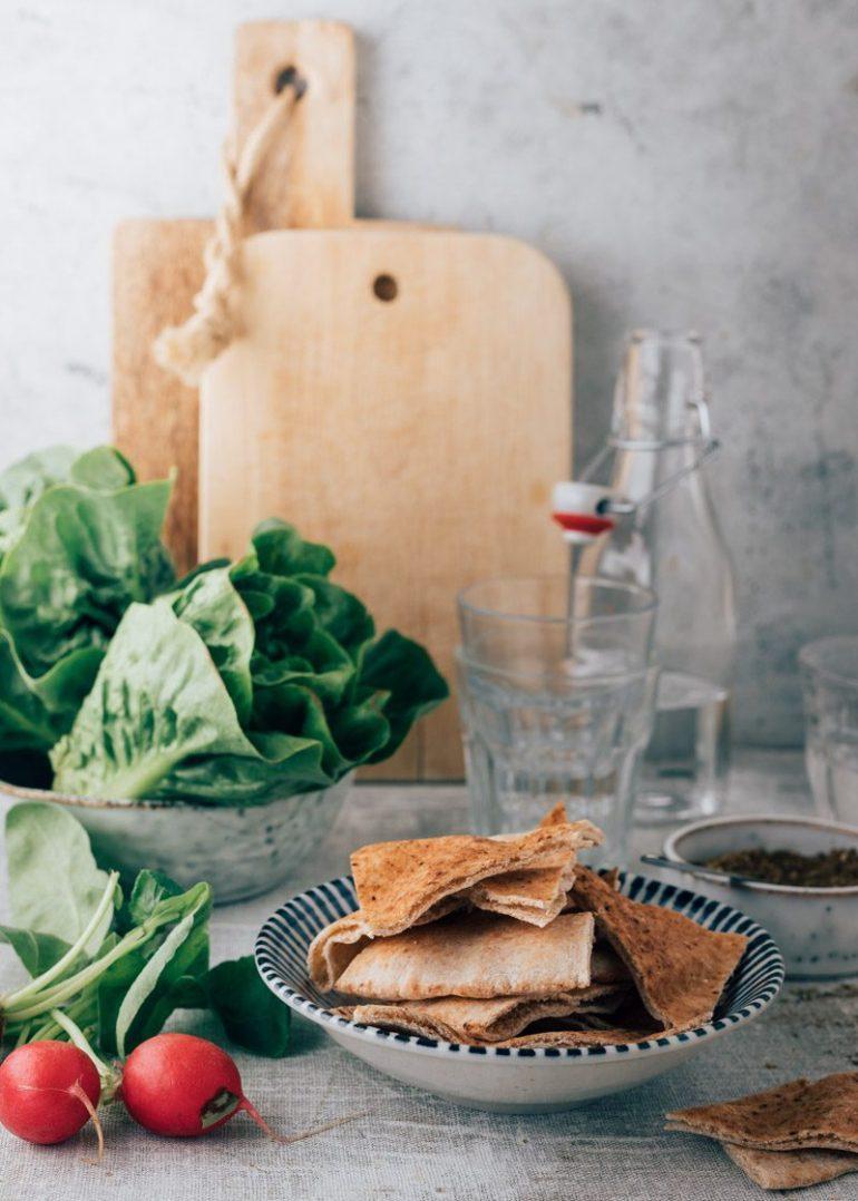 Fattoush salade met granaatappel