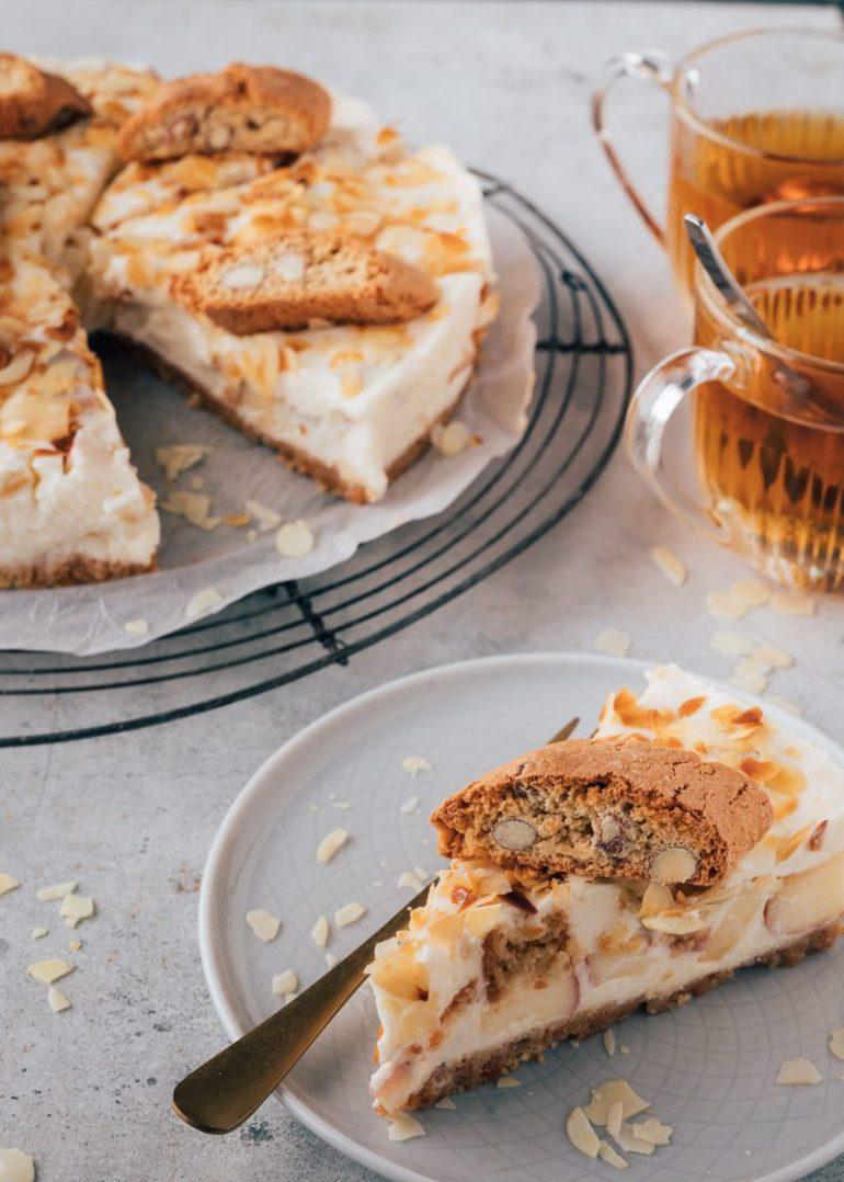No bake taart met cantuccini