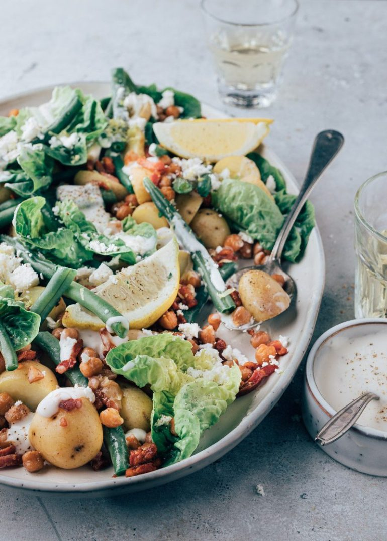 Sperziebonen salade met spekjes