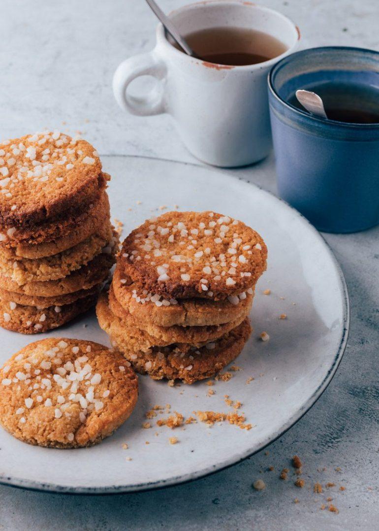 Vegan koekjes van amandelmeel