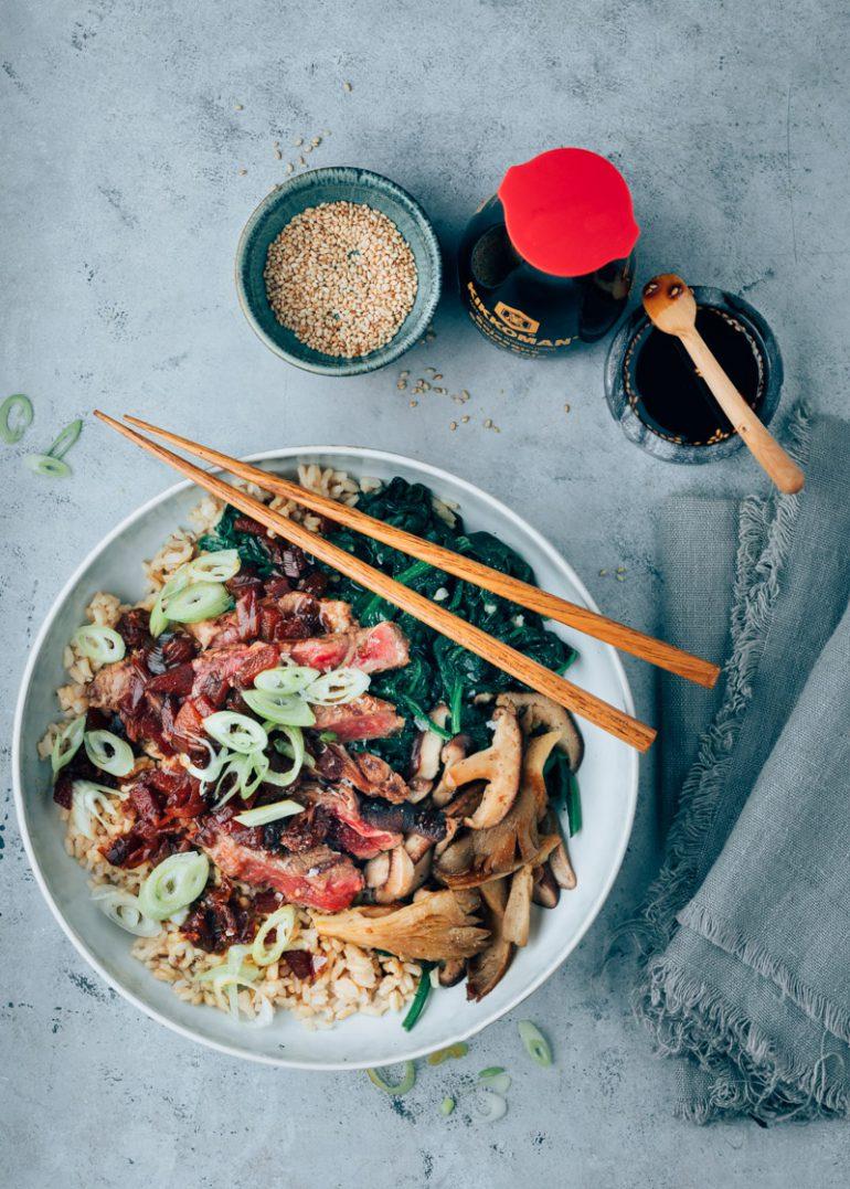 Beef bulgogi bowl