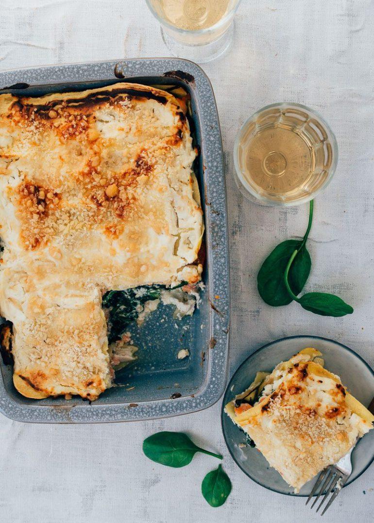 Zalm lasagne